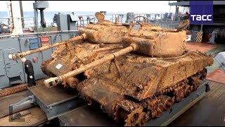 Download Водолазы подняли два американских танка со дна Баренцева моря Video