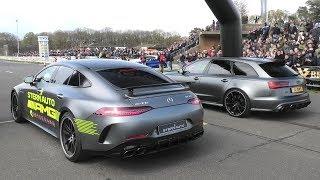 Download Mercedes AMG GT63S vs. RS6 vs. Aventador S vs Jaguar Project 8 vs. Alpine B7 & More! Video