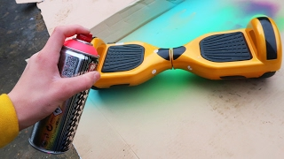 Download SPRAY PAINTING MY HOVERBOARD!! Video