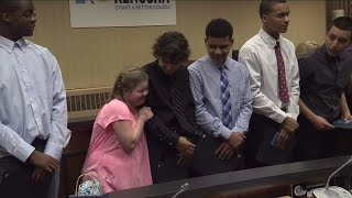Download Athletes who defended bullied cheerleader honored by Kenosha's Common Council Video