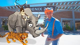 Download Blippi Visits the Zoo   Fun Animals for Children and Toddlers Video