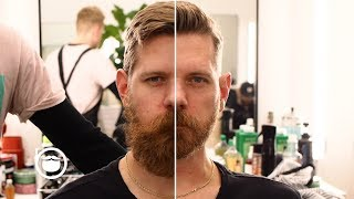 Download Amazing Haircut & Huge Beard Transformation Video