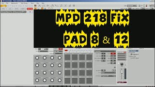 Download Akai MPD 218 Drum Pad fix for Pad 8 & 12 & Studio One Impact by Spud Too Tight Video
