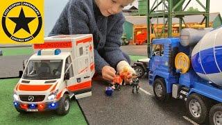 Download BRUDER CEMENT MIXER👍 bad luck POLICE Bruder Trucks 🚔 🚑 BRUDER TOY KID VIDEOS Video