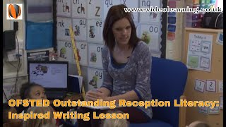 Download Ofsted Outstanding Reception Literacy Lesson: Inspired Writing Video