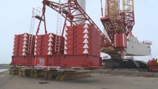 Download Liebherr - LR 11350 crawler crane with PowerBoom Video