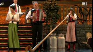 Download Melanie Oesch yodels, Lisa Stoll plays the Alpine Horn, great medley of songs. Video