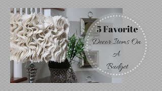 Download 5 Favorite Decor Items On A Budget Video