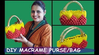 Download DIY How to Make Macrame Purse / Hand Bag New Design Video