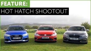 Download Hot Hatch Shootout - BMW M140i vs Audi RS3 vs VW Golf R w/ Tiff Needell and Ryan Cullen Video