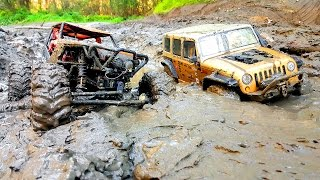 Download RC Extreme Pictures — RC Cars OFF Road 4x4 Adventure — Mudding 4x4 Trucks Jeep VS Axial Wraith Video
