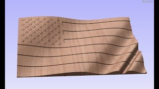 Download How to create a 3D Model US Flag in Vectric Aspire Video
