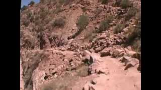 Download 1 Grand Canyon Bright Angel Trail Run (down) at 6.25 mph, Mile 0 - 6.0 (Part 1 of 2) Video
