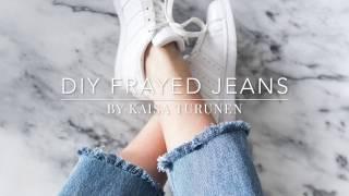 Download DIY frayed jeans Video