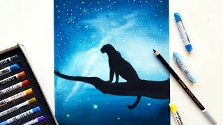 Download 'Lonely leopard' speed drawing with pastels | Leontine van vliet Video
