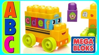 Download Learn ABC Alphabet With ABC MEGA BLOKS BUS! Fun Educational ABC Alphabet Video For Kids, Kindergarte Video