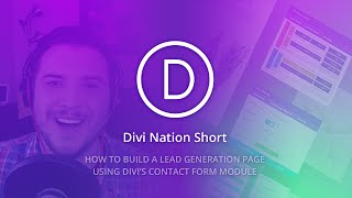 Download Divi Nation Short: How to Create a Lead Generation Page Using Divi's Contact Form Module Video