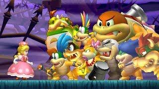 Download New Super Mario Bros U Deluxe - All Bosses (No Damage) Video