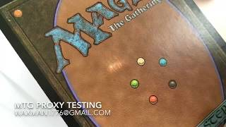 Download MTG Proxy Video Test - pass light bend rip test Video