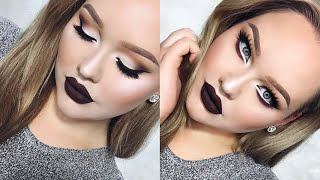Download Extreme Cat Eyes & CHOCOLATE Lips Glam Holiday Makeup Video