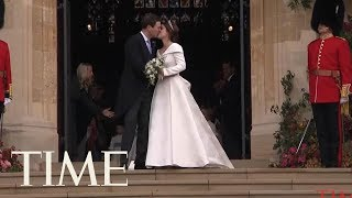 Download Windy Windsor Threatens To Ruin The Royal Outfits At Princess Eugenie's Wedding | TIME Video