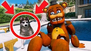Download WITHERED FREDDY GETS HIS FIRST PET DOG! (GTA 5 Mods For Kids FNAF Funny Moments) Video