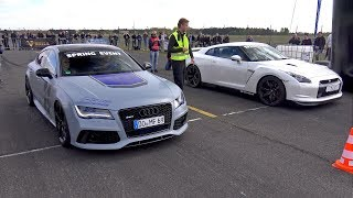 Download 750HP Audi RS7 Sportback vs 1050HP Nissan GT-R R35 Switzer P800 Video