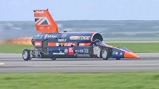 Download World's Fastest Car – 1,000mph Bloodhound SSC – First Public Runs Video