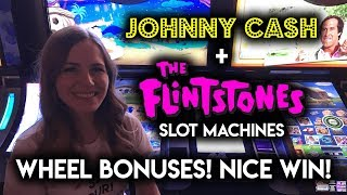 Download First Time Getting The WHEEL BONUS on The Flintstones Slot Machine! Nice WIN! Video