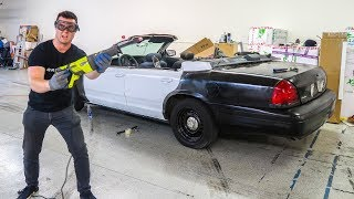 Download I CUT THE ROOF OFF A POLICE CAR!!! Video