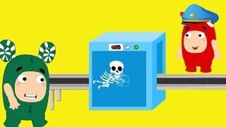 Download Oddbods crying accidently passes through x-ray machine - Oddbods funny pranks full compilation Video