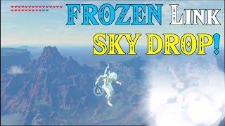 Download FROZEN Link SKY DROP! Link Shuttered into 1000 pieces in Zelda Breath of the Wild Video
