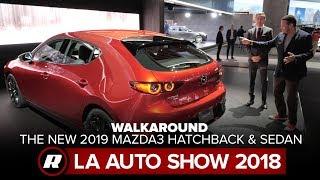 Download Walkaround the new 2019 Mazda3 Hatchback and Sedan   Close Look   2018 LA Auto Show Video