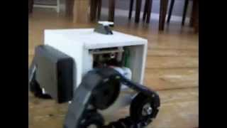 Download Ultra Sonic Detection Robot that looks like Wall-E Video