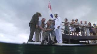 Download Interment of Joseph Langdell at the USS Arizona, Pearl Harbor Video