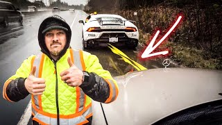 Download Lamborghini Huracan TOWING BROKEN Mercedes-Benz *2,800 LBS TOWING CAPACITY* Video