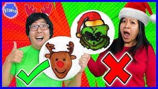 Download CHRISTMAS PANCAKE ART CHALLENGE! Learn How To Do DIY Pancake Art Video