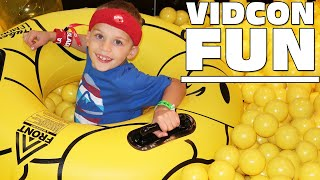 Download GIANT Ball Pit, Donuts, CANDY, Orbeez, Slime, Pom Pom Wow Real Car || Best Vlog Ever || Vidcon 2017 Video