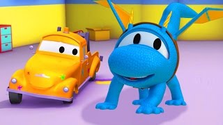 Download Tom The Tow Truck's Paint Shop 🎨 Hector the Helicopter is a Dragon 🚁 🐲 Trucks Cartoon for kids Video