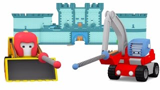 Download Catapult & Castle - Learn with Tiny Trucks: Bulldozer, Crane Truck and Excavator cartoon for kids Video