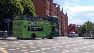 Download Dublin city tour by hop-on hop-off bus HD Video