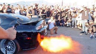 Download INSANELY LOUD Toyota Supra vs Nissan GTR R34 Ultimate Rev Battle | RaceWars 2017 Video