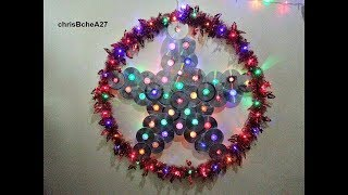 Download DIY# 49 36 inches Xmas Lantern/ Parol from Recycled CD and DVD Video