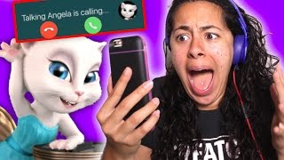 Download Talking Angela CALLED me on the phone!! (Mystery Gaming) Video