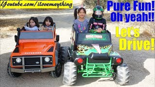 Download Kids Toy Channel: 24 Volts Power Wheels! 12 Volts Ride-On Car Land Rover Defender. Kids' TOY CARS! Video