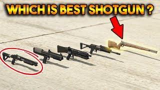Download GTA 5 ONLINE : WHICH IS BEST SHOTGUN? (PUMP SHOTGUN, MUSKET, HEAVY SHOTGUN etc.) Video