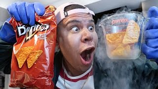 Download Science Experiment LIQUID NITROGEN vs DORITOS *YOU WON'T BELIEVE WHAT HAPPENS* Video