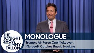 Download Trump's Air Force One Makeover, Microsoft Catches Russia Hacking - Monologue Video