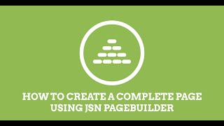 Download JSN PageBuilder | How to build a Joomla! page Video