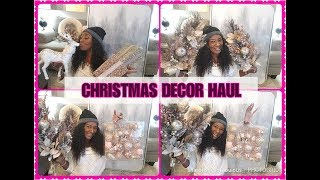 Download BIGLOTS CHRISTMAS DECOR HAUL || BLUSH PINK || BLING AND GLAM Video